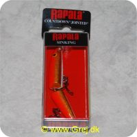 022677016030 - Rapala Countdown Jointed  wobler - 7cm - 8g - Gold Fl Red- synkende