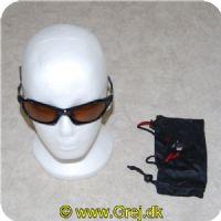 921ac609c61e 022677100227 - Solbriller - Rapala Sportsman - Sort stel - Brune glas - Model  RVG- ...
