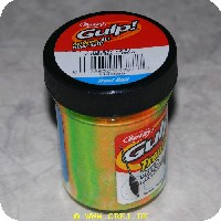 028632247877 - Berkley Gulp med glimmer - 50 gram - Grøn/gul/orange - Org. navn: Rainbow Candy