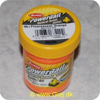 028632634202 - Power Bait - 50g - Fluorescent Orange med glimmer og hvidløg