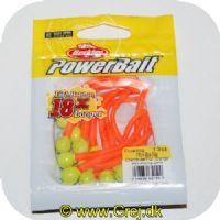 028632651520 - Power Bait Mice Tails - 13 stk - Chartreuse/Fluorescerende Orange - 8 cm - Ny udgave