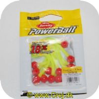 028632651537 - Power Bait Mice Tails - 13 stk - Fluorescerende Red/Chartreuse - 8 cm - Ny udgave