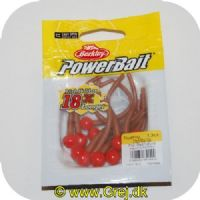 028632651544 - Power Bait Mice Tails - 13 stk - Fluorescerende Red/Natural - 8 cm - Ny udgave