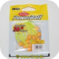028632651582 - Power Bait Mice Tails - 13 stk - Orange Silver/Chartreuse - 8 cm - Ny udgave