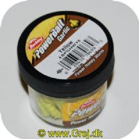 028632706893 - Berkley Power Honey Worm med Hvidløg - 55 stk. - Yellow (gul)