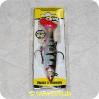 039984149023 - Knockr Minnow 13cm/46g - Perch - Sort/Grå/rød - Aborre