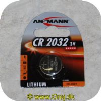 4013674502011 - Ansmann batterier - Type CR2032 - 1 stk. - 3V