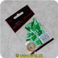 4029569337279 - Magic Trout Curly B-Bobbles - Green/white - 35mm - 35 stk
