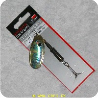4044641043176 - Dam FZ Super Natural V spinner<LI>Str 5 (12 gram) Mørk messingkrop og Karpe ligende blad med sort øje