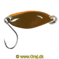 4250203344616 - FTM Fishing Tackle Max Skeblink Fly 1.2g -  Olive brun med orange kant og Olive brun bag side<BR>