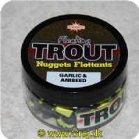 5031745210091 - Dynamite Flydende Trout Nuggets - Garlic/Aniseed - Char./sort  - 60 gram