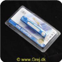 5287000968980 - USB Lighter - God til at tænde når det blæser da den har et glødelegme istedet for flammer. <LI>Genopladelig</LI> <LI>Wind prof</LI>