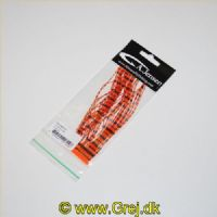 5704041207026 - Black Barred Crazy Legs - Orange - Silikone ben der giver enormt liv til fluen