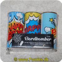5704378970587 - Bordbombe 10 cm. (3 stk.)