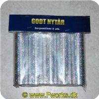 5704777028254 - Serpentiner 5 pak i Holografisk sølv