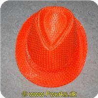 5704777036655 - Neon hatte med pailletter - Assorterede (Neon grøn/pink/orange)