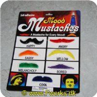 5704777037553 - Forskellige slags overskæg i forskellige former og farver - Vælg mellem 3 slags pakker