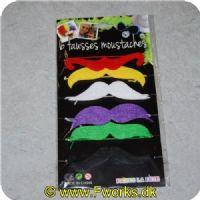 5704777037553 - Forskellige slags overskæg i forskellige former og farver - Vælg ml. 3 slags pak