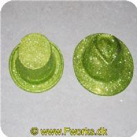 5704777037638 - Gangster hatte med glimmer 1 stk. - Assorterede (Guld. Grøn. Sort. Sølv) høj eller rund.<BR> Se billeder