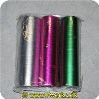 5704777038048 - Serpentiner 3 pak i Neon (Sølv. Pink. Grøn)