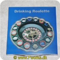 5704777040010 - Roulette spil med shotsglas med de forskellige numre på glassene
