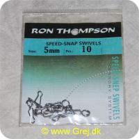 5706301621443 - Ron Thomsen Speed Snap Swivel str. 5mm - 10 stk