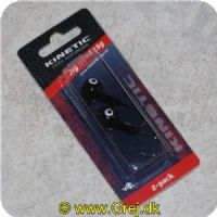 5707461302272 - Kinetic Jig Head 15g - Sort - 2 stk