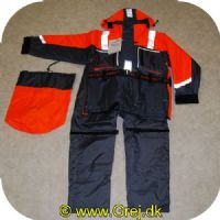 5707549192290 - Waterspeed Flotation suit str. L - 2 delt - Flydedragt - Orange/grå