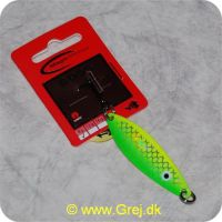 5707549252284 - Magic Minnow Boss blink 8 g - 6 cm - Mee - Grøn/gul