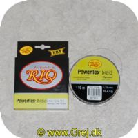 5707549252512 - Rio Powerflex braid - 0,18mm - 10,4 kg - 110 meter - heron grå