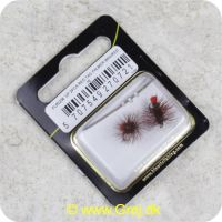 5707549270721 - Unique Flies - 2 stk. pakke - Red Tag Palmer Brown/Red TMC 100 #16 (FL00208)