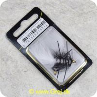 5707549270912 - Unique Flies - 2 stk. pakke - B.H. Rubber Leg Wooly White 1720 #8 (FL00227)