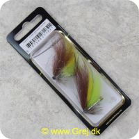 5707549271841 - Unique Flies - 2 stk. pakke - Silver Grey Variant Tube Plast 1 tomme (FL00317)