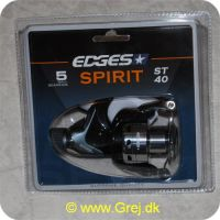 5709386286798 - Edges Spirit ST40 Spinnehjul - 5 lejer - Gear Ratio: 5.0:1 - Linekap.: 0.30mm/170m - 0.35mm/130m