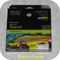 730884206976 - In Touch Trout LT - WF5F - 90ft/27m - Beige/Gray/Sage - Den ultimative flueline for delicate presentation med ultra lav stretch performance - Hovedlængde: 14.3 meter - Flydende
