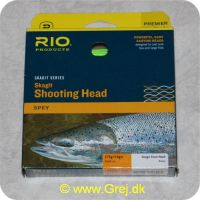 730884218405 - Rio Skagit Shooting head light floating - 6,1m - 17,7g - RP21840 - Grøn - Både til singel hands og switch rods - Til stænger kortere end 12 fod - Loops i begge ender
