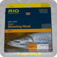 730884218429 - Rio Skagit Short head light floating - 6,1m - 24,3g - 375 grains - Grøn - Både til singel hands og switch rods - Til stænger kortere end 12 fod - RP 21842