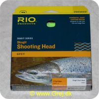 730884218436 - Rio Skagit Short head light floating - 6.1m - 27.5g - 425 grains - Grøn - Både til singel hands og switch rods - Til stænger kortere end 12 fod - RP 21843