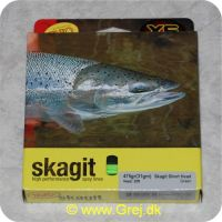730884218443 - Rio Skagit Short head light floating - 6.1m - 30.8g - 475 grains - Grøn - Både til singel hands og switch rods - Til stænger kortere end 12 fod - RP 21844