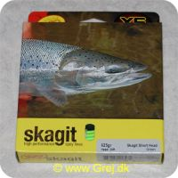 730884218474 - Rio Skagit Short head Medium floating - 6.1m - 40.5g - 625 grains - Grøn - Både til singel hands og switch rods - Til stænger kortere end 12 fod - RP 21847