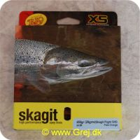 730884219716 - Skagit Flight Shooting Head Dobbelthånds Light Floating 7.47m - 29.2g - 450 grains - Pale orange - Loops i begge ender - RP21971