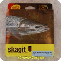 730884219785 - Skagit Flight Shooting Head Dobbelthånds Heavy Floating 8.23m - 40.5g - 625 grains - Pale orange - Loops i begge ender - RP21978