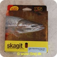 730884219792 - Skagit Flight Shooting Head Dobbelthånds Heavy Floating 8.23m - 42.1g - 650 grains - Pale orange - Loops i begge ender - RP21979