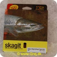 730884219808 - Skagit Flight Shooting Head Dobbelthånds Heavy Floating 8.53m - 43.7g - 675 grains - Pale orange - Loops i begge ender - RP21980
