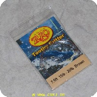 730884243421 - Rio Toothy Critter Tapered Leader - 7,5ft. - 15lb-30lb - Brun