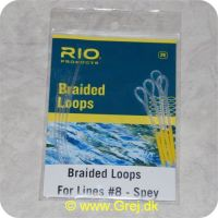 730884260831 - Rio Braided Loops - Til liner # 8-Spey - Ekstra lange - 4 stk - Shooting Heads Clear