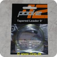 7320734870070 - Pool 12 Tapered Leader 9 fod - 0.13mm - 6X - Forfang