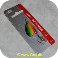 ABU9FT - Abu Garcia Spinner 9 gram - Fire Tiger - Sort/grøn/gul/orange