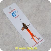 DEV15OR - Devon Kondomspinner med propel 15 gram - Messing propel - Orange hale