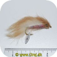 FL00723 - Seatrout UV Flies - Light Zonker UV - Str. 04 - Beige/hvid